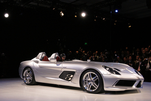 Rolling in will be the Mercedes-Benz SLR McLaren Stirling Moss edition.