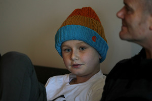 Ten-year-old Harrison Mundy has been diagnosed with a rare form of cancerous tumour. Photo / John Borren