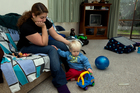 Simona Watkinson is sole carer for her 19-month-old son, Griffen, and struggles on her benefit. Photo / Brett Phibbs