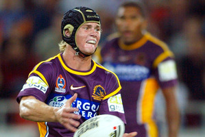 Berrick Barnes played nineNRLgames for the Broncos as a teen in 2005. Photo / Getty Images