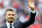 David Beckham has suggested the royal baby be named after him.Photo / AP