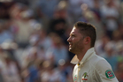 Michael Clarke was rightfully given out for edging Broad behind late in the final session. Photo / AP
