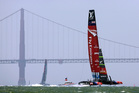Emirates Team New Zealand let the cat out of the bag early when they revealed their foiling breakthrough. Photo / AP