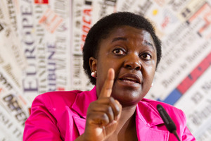 Kyenge came to Italy 30 years ago and has Italian citizenship. Photo / AP