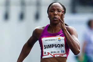 Jamaica's Sherone Simpson, a three-time Olympic medallist, also tested positive. Photo / Getty Images