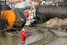 The crash site of the train derailment and fire in Lac-Megantic, Quebec. Photo / AP