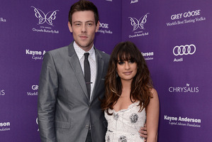Lea Michele, right, and actor Cory Monteith seen here on June 8. Photo / AP