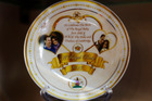 A souvenir plate to mark the forthcoming birth of Prince William and Kate, Duchess of Cambridge's baby.Photo / AP