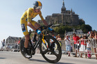 Chris Froome's time up Mont Ventoux has been beaten only by Lance Armstrong. Photo / AP