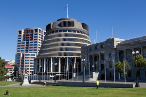 Bowen House, the Beehive and Parliament. Photo / Mark Mitchell