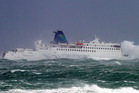 The Interisland ferry Arahura had a choppy crossing in Cook Strait yesterday. Photo / NZ Herald