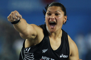 Valerie Adams notched up her 37th consecutive win at an event in Lucerne this week. Photo / Getty Images.