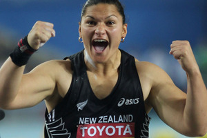 Two-time Olympic champion Valerie Adams warmed up for next month's world championships by winning her 37th consecutive shot put competition. Photo / Getty Images.