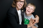Snowboarder Kevin Pearce with brother David at this year's Sundance Film Festival. Photo / AP