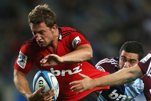 Tom Taylor's all-clear from a head injury is a welcome boost for the Crusaders. Photo / Getty Images