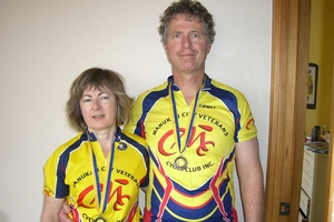 Jane Farrelly (left) died while she was cycling with her husband, Ian, and friends near Taupo in March. Photo / Sarah Ivey