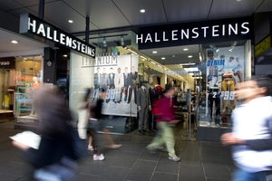 Hallensteins shares dropped 0.4 per cent to $4.86. Photo / Sarah Ivey
