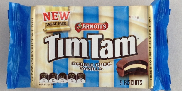 """Tim Tams now come as a """"treat pack"""" of five biscuits."""