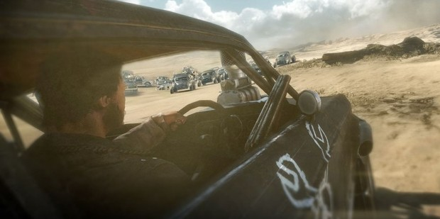 Loading A scene from the new game Mad Max, due out in early 2014.