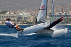 Isaac McHardie and Micah Wilkinson won the SL16 class and Markus. Photo / Yachting NZ.