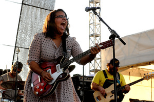 Brittany Howard of Alabama Shakes seems to throw her whole being into imparting a little wisdom, sharing heartbreak, hard times, and exorcising demons in every song. File photo / Getty Images