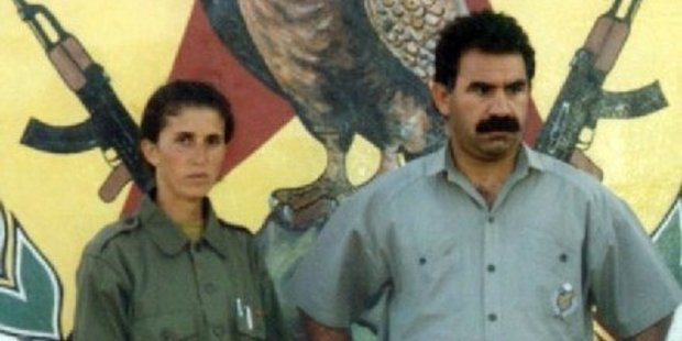 An undated picture shows slain Sakine Cansiz (L) with Abdullah Ocalan in 1995.  Photo / AFP