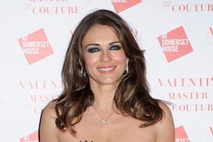 Actress Liz Hurley had an altercation with journalists at Perth Airport.  Photo / AP