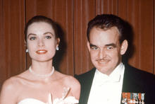 American actress Grace Kelly with Prince Rainier of Monaco in 1956. Photo / AP
