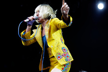 Karen O performs with the Yeah Yeah Yeahs at the Sydney Big Day Out. Photo / AP