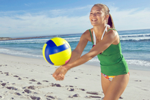 Beach volleyball is a good way for teens to socialise in the sun. Photo / Thinkstock