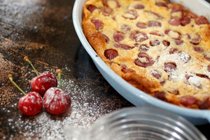 Make use of the last of the season's cherries in a cherry clafoutis. Photo / HOS