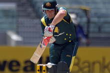 Australian batsman Aaron Finch will join Auckland for their HRV Cup semifinal clash with Wellington tomorrow. Photo / AP.