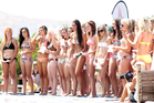Contestants line up for the Miss Waimarama contest.   Photo / Duncan Brown