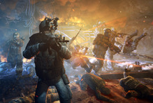 THQ's future is up in the air, but there is trouble on the ground in Metro: Last Light. Photo / Supplied
