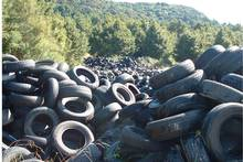 One of the many piles of tyres found on a Huntly property. Photo / Supplied