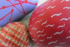 Simple painted stones make for bespoke paperweights. Photo / HOS
