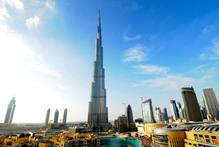 The 200-story Burj Khalifa building st