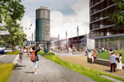 Daldy and Halsey streets are set to become tree-lined boulevards connecting the waterfront and Victoria Park. Photo / Supplied