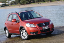The Suzuki SX4 i-AWD is another compact four-wheel-drive vehicle that's trendy and desirable to urban types. Photo / David Linklater