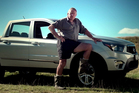 Ssang Yong advert featuring Colin Meads.  Photo / supplied