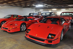 Ferraris at the Petersen museum, Los Angeles. Photo / Supplied