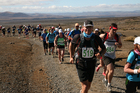 The Tussock Traverse around Ruapehu is a harsh alpine environment for runners. Photo / Supplied