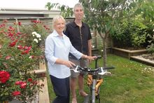 Sirpa Lajunen has swapped her road bike for a mountain bike, but she and husband David Joyce say the crash hasn't soured their love of cycling. Photo / File