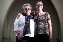 Methodist minister Susan Thompson (right) and partner Nan Russell will marry if Louisa Wall's marriage amendment bill is passed. Photo / Natalie Slade