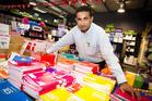 Jitu Patel, owner of Onehunga Paper Plus. Photo / Richard Robinson.