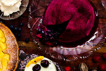 Summer berry pudding with rosewater cream. Photo / New Zealand Herald