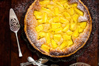 Pineapple and frangipane tart. Photo / Babiche Martens