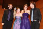 Rothko Quartet: Alex Macdonald, Olivia Francis, Emily Bouwhuis and Cameron Stuart.
