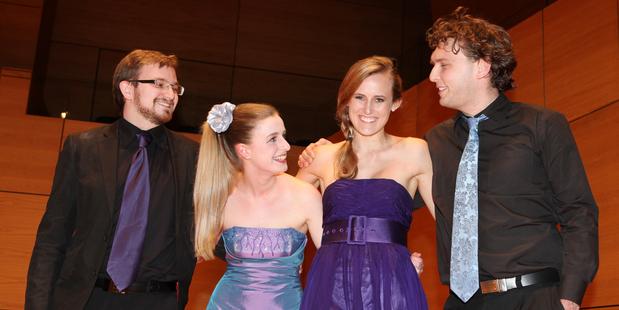 Rothko Quartet: Alex Macdonald, Olivia Francis, Emily Bouwhuis and Cameron Stuart.