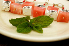 Feta, water melon and mint skewers. Photo / HOS 